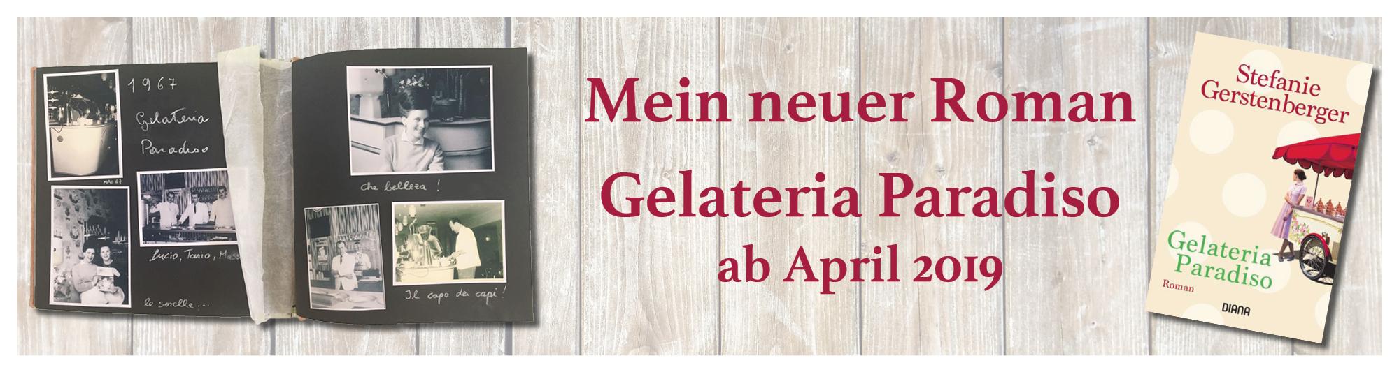 Banner zum Roman Gelateria Paradiso von Stefanie Gerstenberger