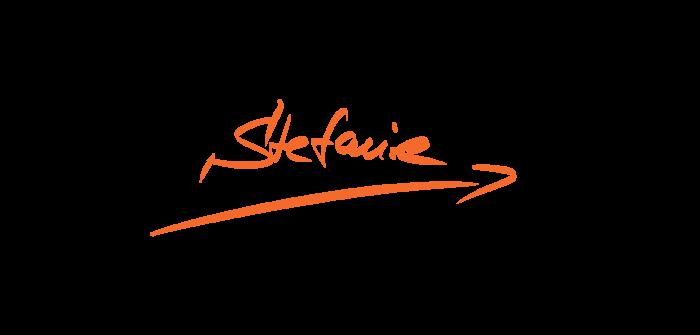 stefanie gerstenberger schriftzug orange